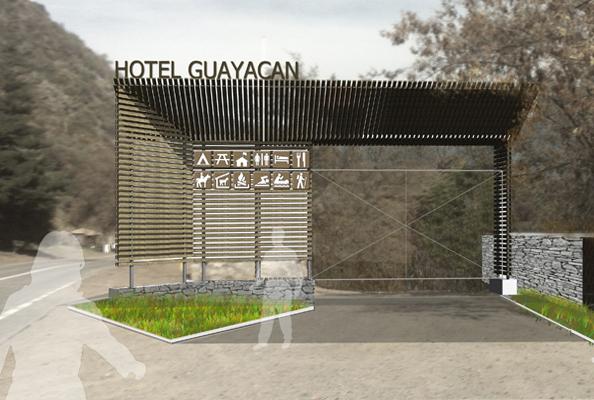 ACCESO HOTEL GUAYACAN